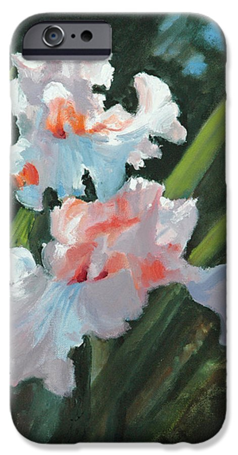Irises IPhone 6 Case featuring the painting Iris Pour Une Belle Femme by Glenn Secrest