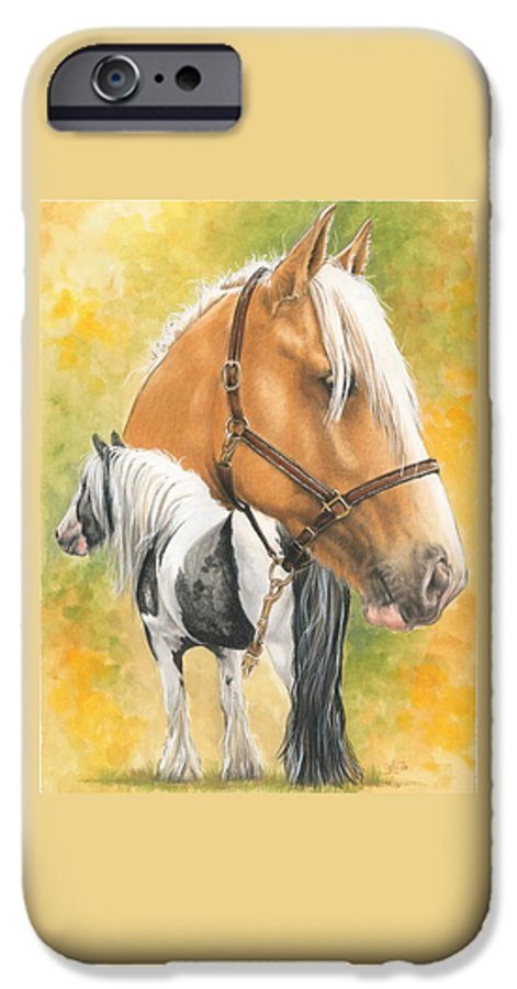 Draft Horse IPhone 6 Case featuring the mixed media Irish Cob by Barbara Keith