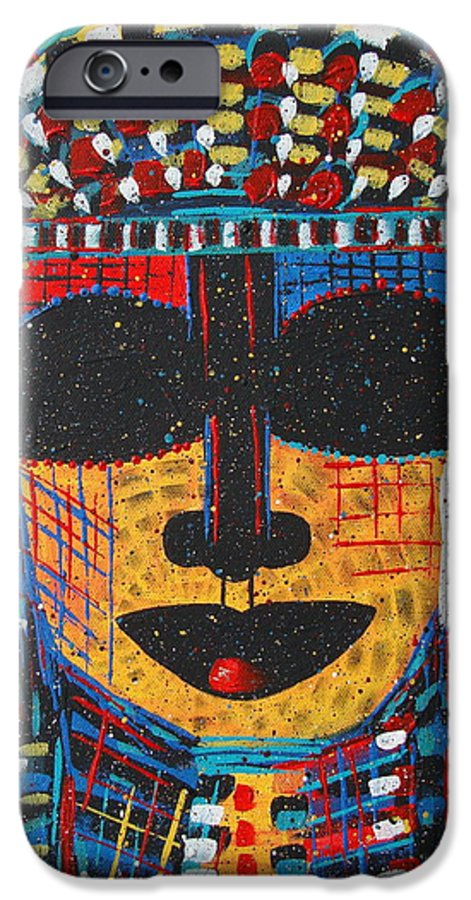 Abstract IPhone 6 Case featuring the painting Isatoria by Natalie Holland