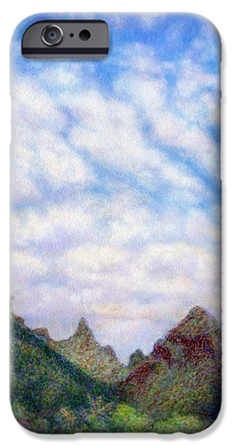 Coastal Decor IPhone 6 Case featuring the painting Island Sky by Kenneth Grzesik