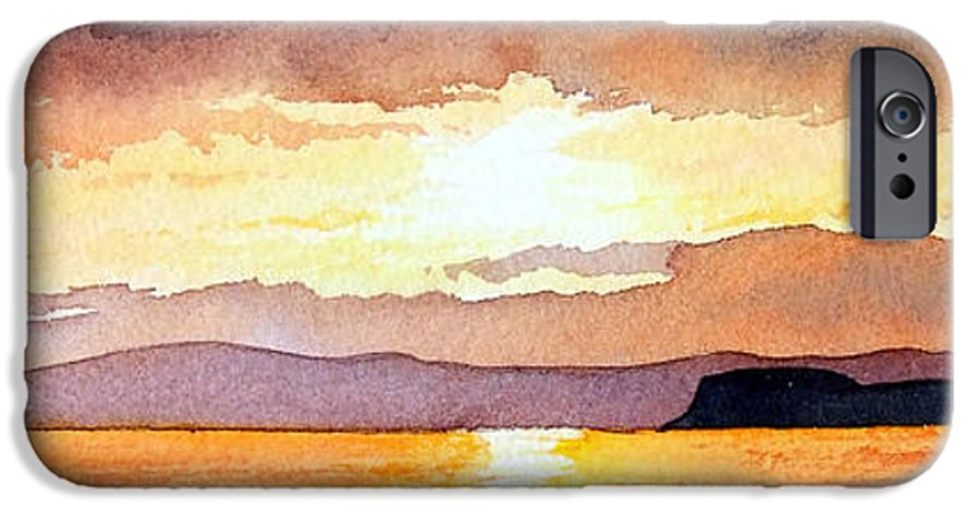 Seascape IPhone 6 Case featuring the painting Islay And Cara From Kintyre Scotland by Paul Dene Marlor
