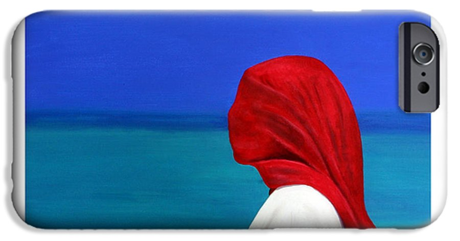 Red IPhone 6 Case featuring the painting It Could Be You by Fiona Jack