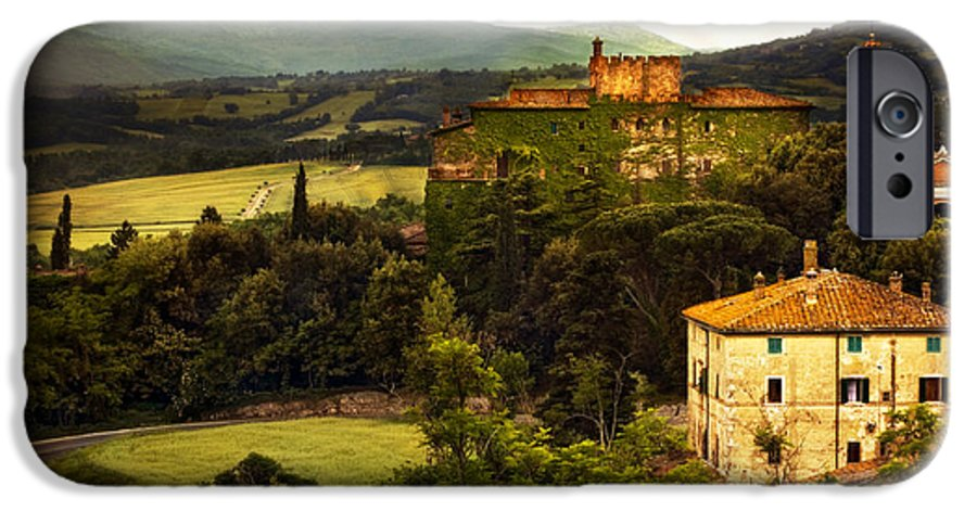 Italy IPhone 6 Case featuring the photograph Italian Castle And Landscape by Marilyn Hunt