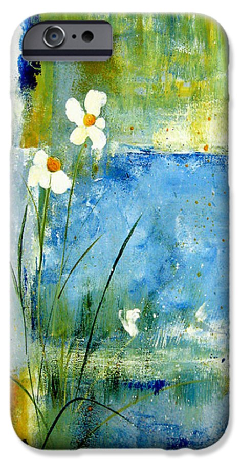 Abstract IPhone 6 Case featuring the painting It's Just You And Me by Ruth Palmer