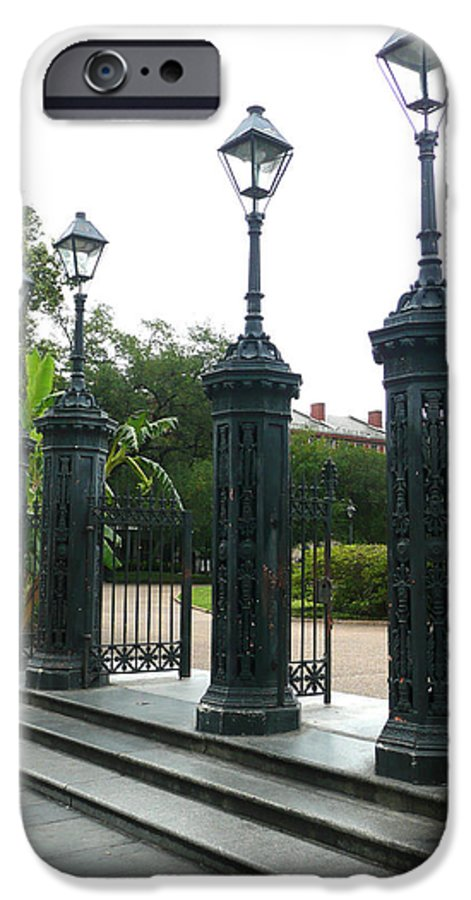 Jackson Square IPhone 6 Case featuring the photograph Jackson Square by Kathy Schumann