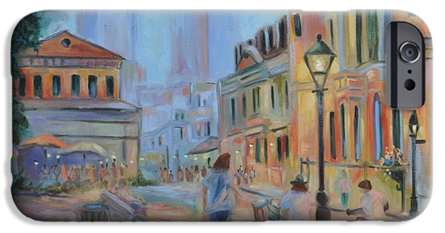 New Orleans IPhone 6 Case featuring the painting Jackson Square Musicians by Ginger Concepcion