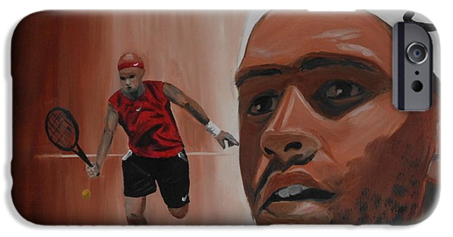 James IPhone 6 Case featuring the painting James Blake by Quwatha Valentine