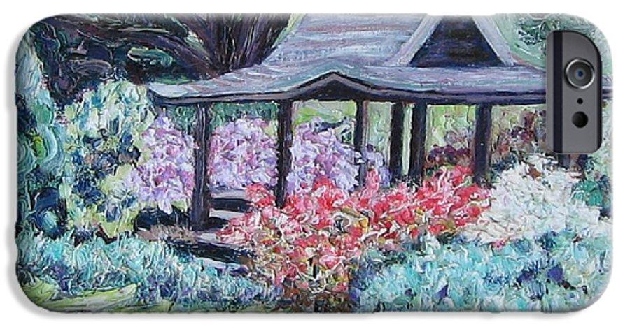 Garden IPhone 6 Case featuring the painting Japanese Garden by Richard Nowak