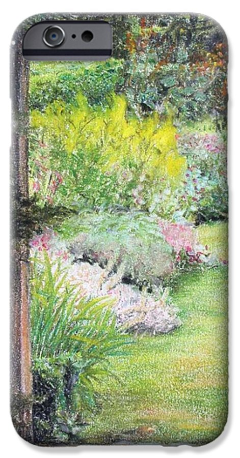 Landscape IPhone 6 Case featuring the drawing Jardin by Muriel Dolemieux