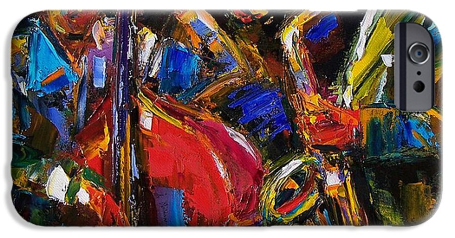 Jazz IPhone 6 Case featuring the painting Jazz by Debra Hurd