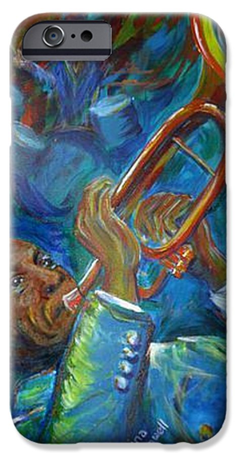 Jazz IPhone 6 Case featuring the painting Jazz Man by Regina Walsh