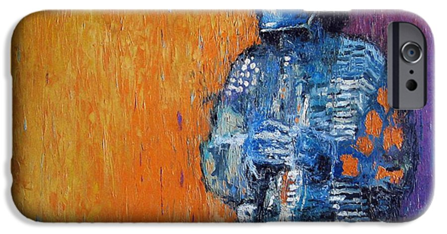 Jazz IPhone 6 Case featuring the painting Jazz Miles Davis 2 by Yuriy Shevchuk