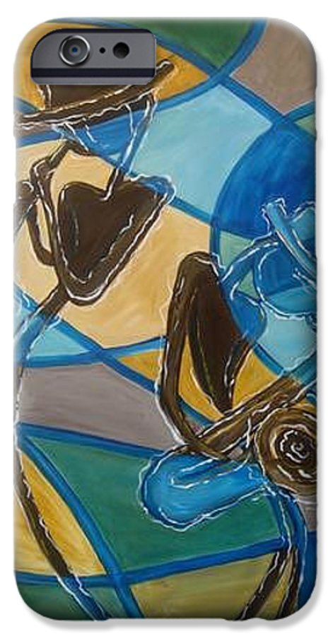 Jazz IPhone 6 Case featuring the painting Jazz Raz by Regina Walsh