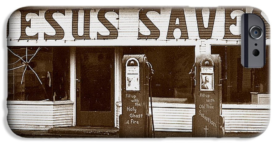 Jesus IPhone 6 Case featuring the photograph Jesus Saves 1973 by Michael Ziegler
