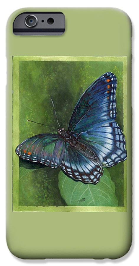 Insects IPhone 6 Case featuring the mixed media Jewel Tones by Barbara Keith