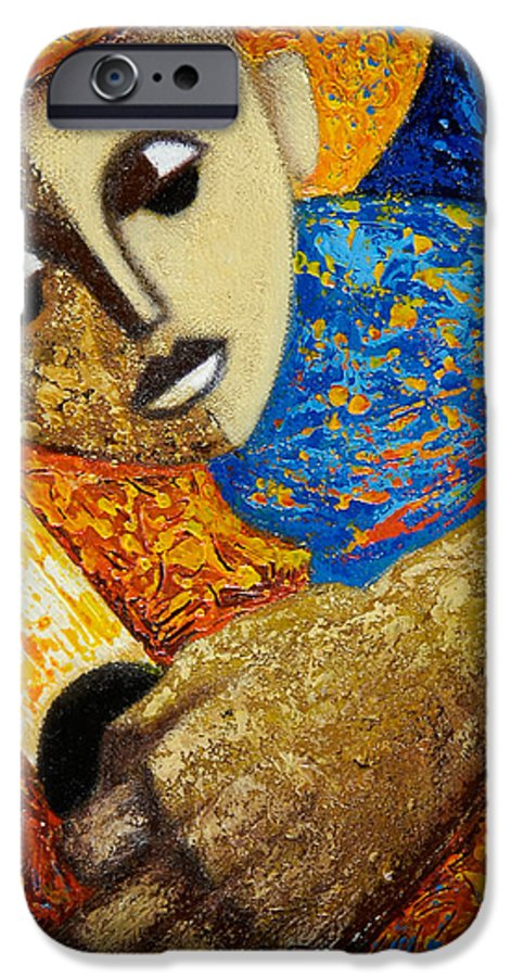 Color IPhone 6 Case featuring the painting Jibaro Y Sol by Oscar Ortiz