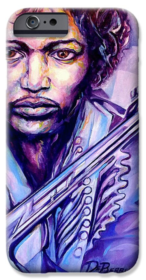 IPhone 6 Case featuring the painting Jimi by Lloyd DeBerry