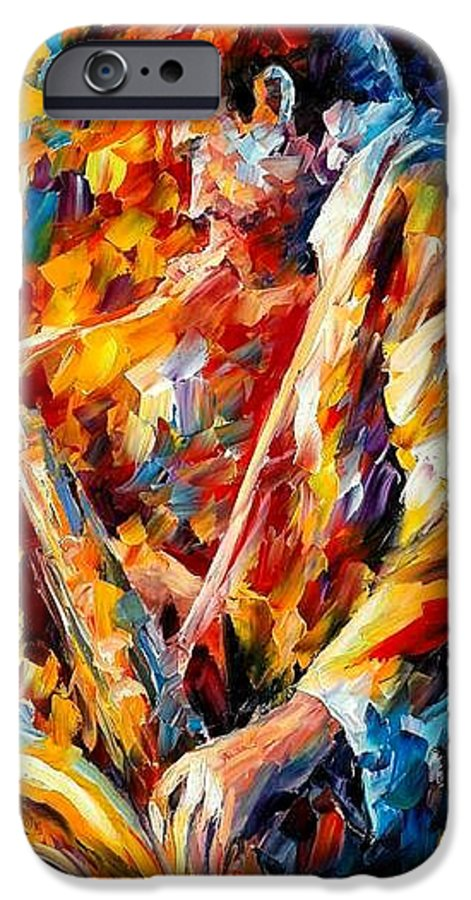 Music IPhone 6 Case featuring the painting John Coltrane by Leonid Afremov