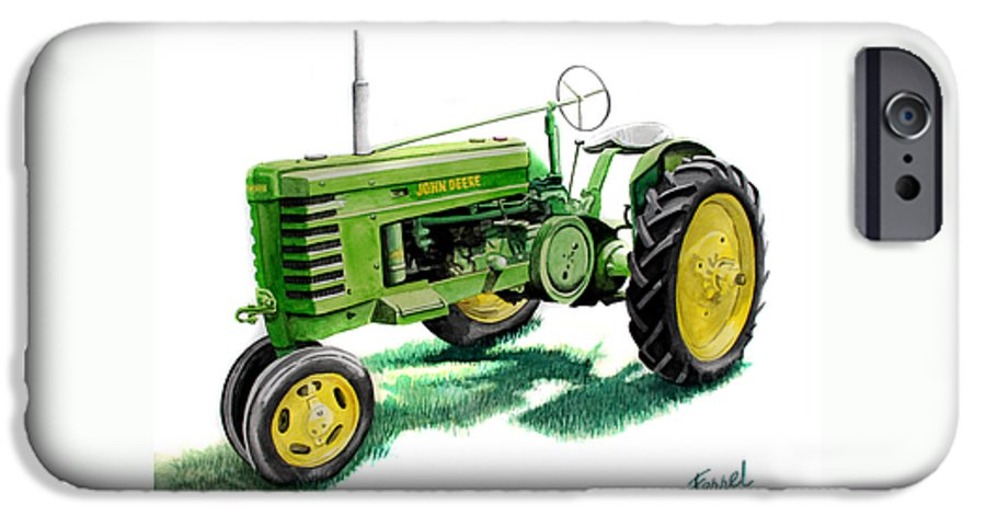 John Deere Tractor IPhone 6 Case featuring the painting John Deere Tractor by Ferrel Cordle