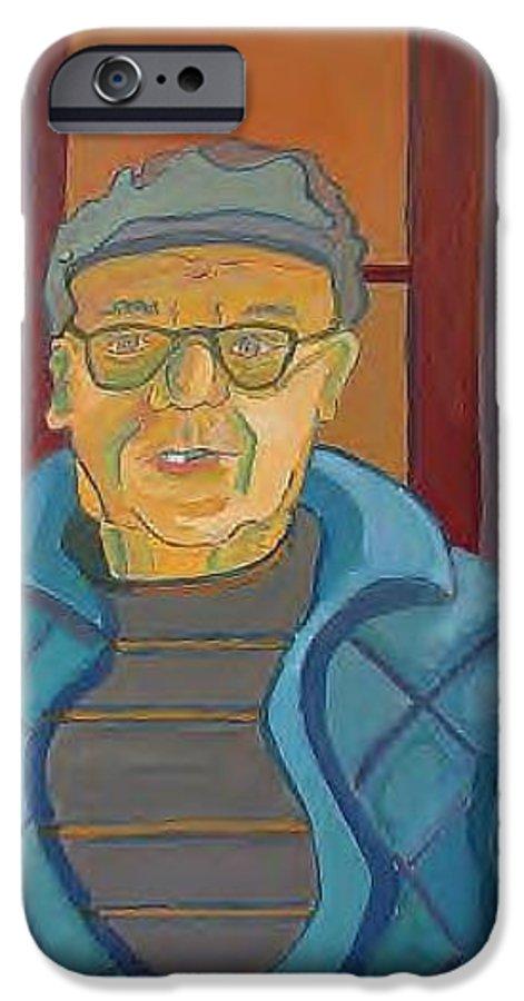 Portrait IPhone 6 Case featuring the painting John Paris by Debra Bretton Robinson