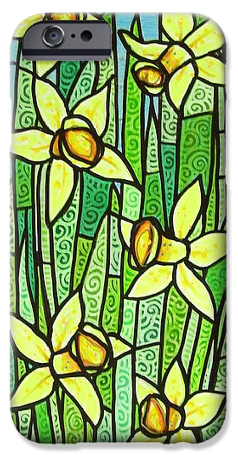 Jonquils IPhone 6 Case featuring the painting Jonquil Glory by Jim Harris