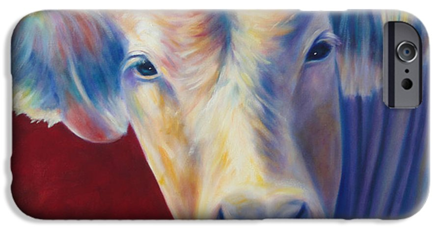 Bull IPhone 6 Case featuring the painting Jorge by Shannon Grissom