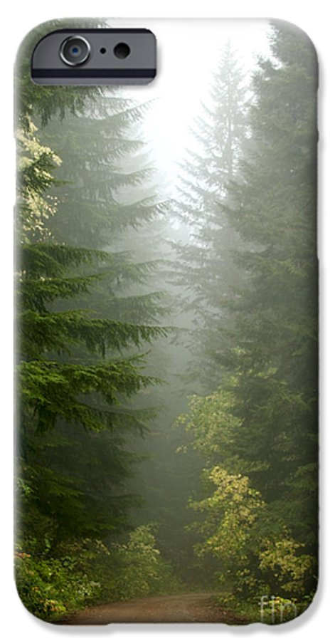 Forest IPhone 6 Case featuring the photograph Journey Through The Fog by Idaho Scenic Images Linda Lantzy