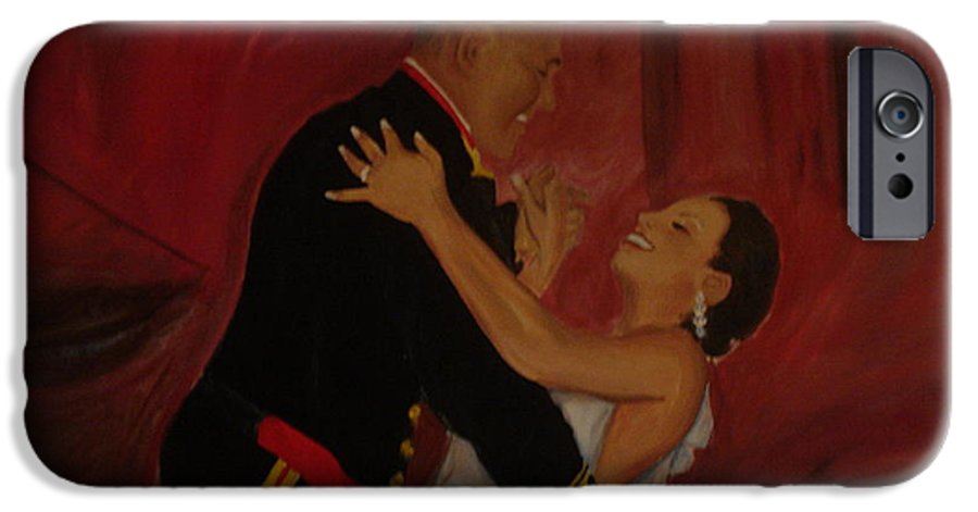 Marine IPhone 6 Case featuring the painting Just Married by Regina Walsh