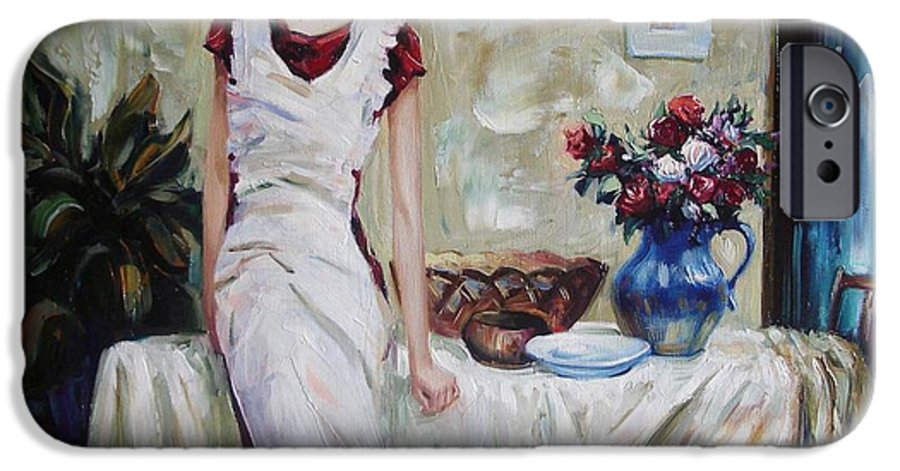Figurative IPhone 6 Case featuring the painting Just The Next Day by Sergey Ignatenko