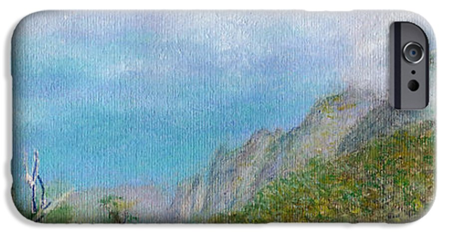 Rainbow Colors Pastel IPhone 6 Case featuring the painting Kalalau Mist by Kenneth Grzesik