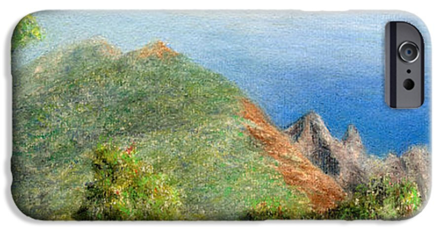Rainbow Colors Pastel IPhone 6 Case featuring the painting Kalalau View by Kenneth Grzesik