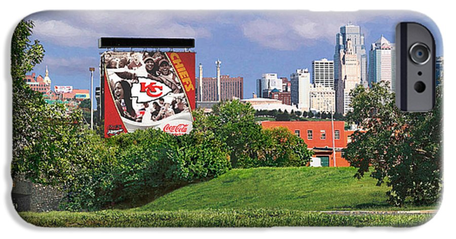 Landscape IPhone 6 Case featuring the photograph Kansas City Sky Line by Steve Karol
