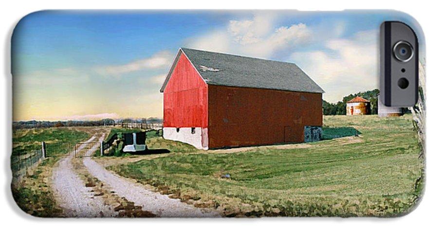Barn IPhone 6 Case featuring the photograph Kansas Landscape II by Steve Karol