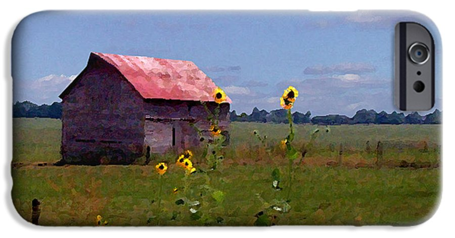 Landscape IPhone 6 Case featuring the photograph Kansas Landscape by Steve Karol