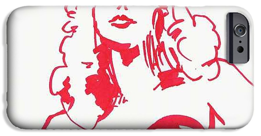 A Fashion Model And Movie Star Captured In A Classic %0 IPhone 6 Case featuring the drawing Kate Moss by Seth Weaver