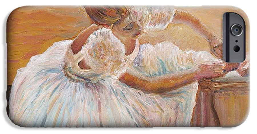 Dancer IPhone 6 Case featuring the painting Kaylea by Nadine Rippelmeyer