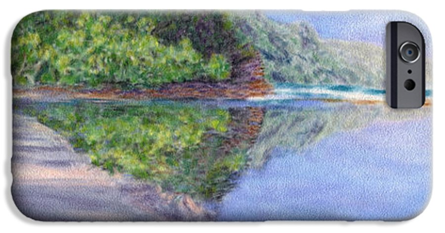 Rainbow Colors Pastel IPhone 6 Case featuring the painting Ke' E Beach In May by Kenneth Grzesik