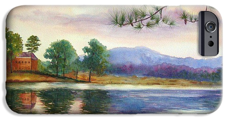 Marietta IPhone 6 Case featuring the painting Kennesaw Mt. by Ann Cockerill