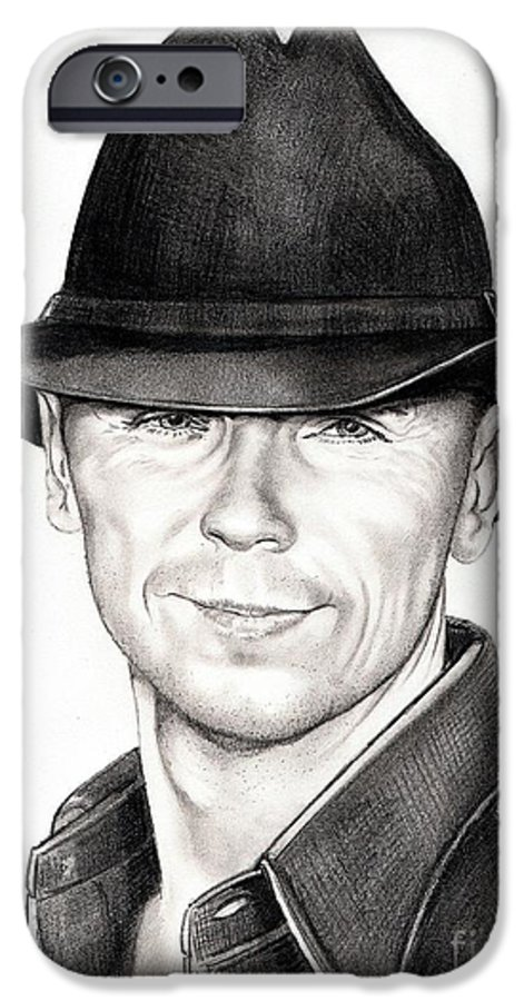 Portrait IPhone 6 Case featuring the drawing Kenny Chesney by Murphy Elliott