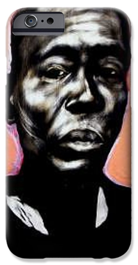 Portrait IPhone 6 Case featuring the mixed media Kewam by Chester Elmore