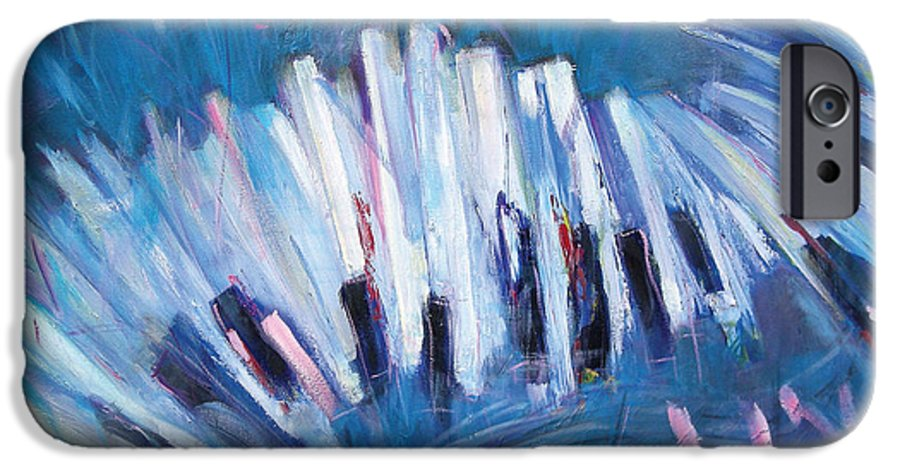 Piano IPhone 6 Case featuring the painting Keys by Jude Lobe