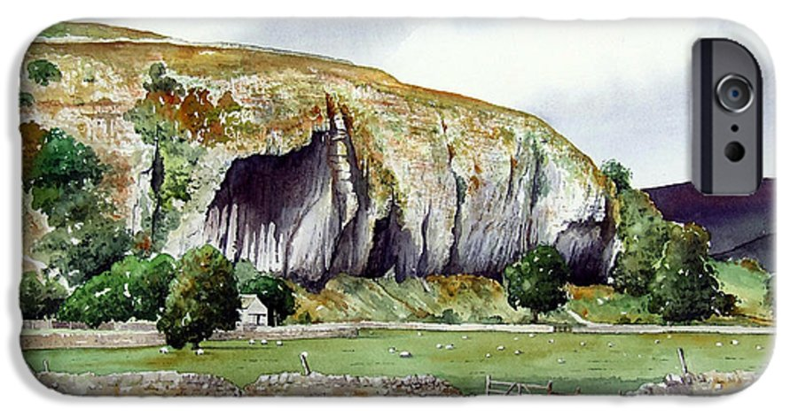 Landscape IPhone 6 Case featuring the painting Kilnsey Crag by Paul Dene Marlor