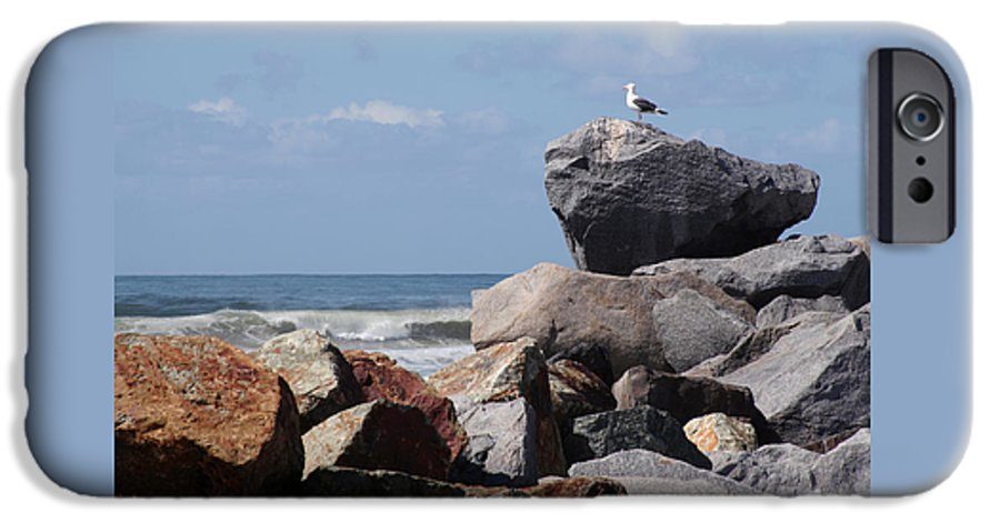 Beach IPhone 6 Case featuring the photograph King Of The Rocks by Margie Wildblood
