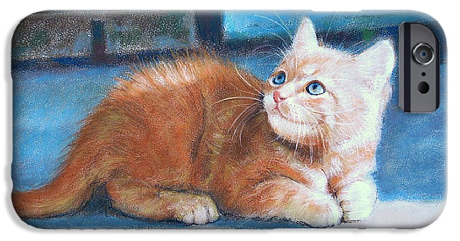 Cats IPhone 6 Case featuring the painting Kitten by Iliyan Bozhanov