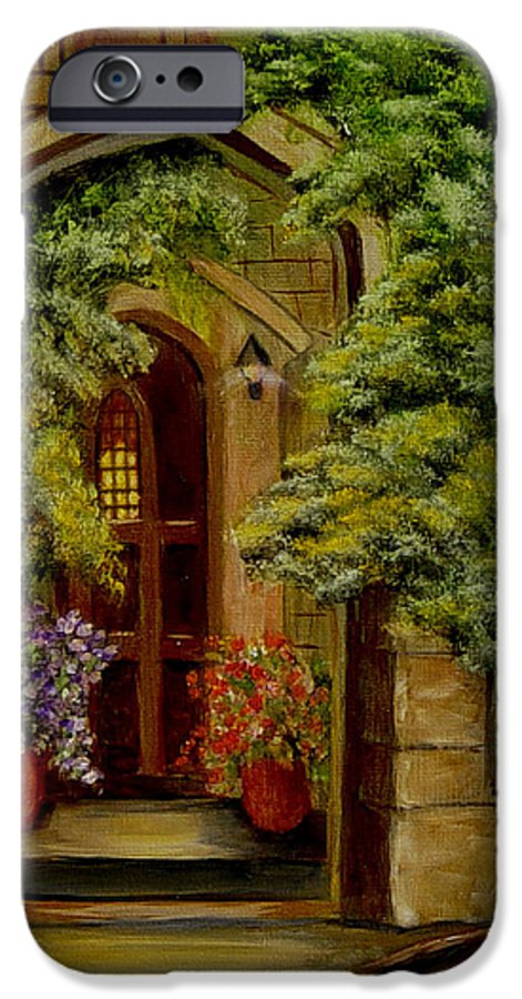 Door IPhone 6 Case featuring the painting Knight's Door by Quwatha Valentine
