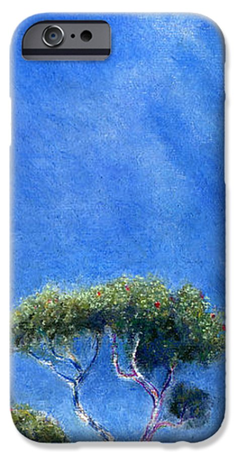 Rainbow Colors Pastel IPhone 6 Case featuring the painting Kokee Trees by Kenneth Grzesik