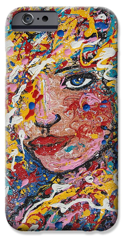 Woman IPhone 6 Case featuring the painting Kuziana by Natalie Holland