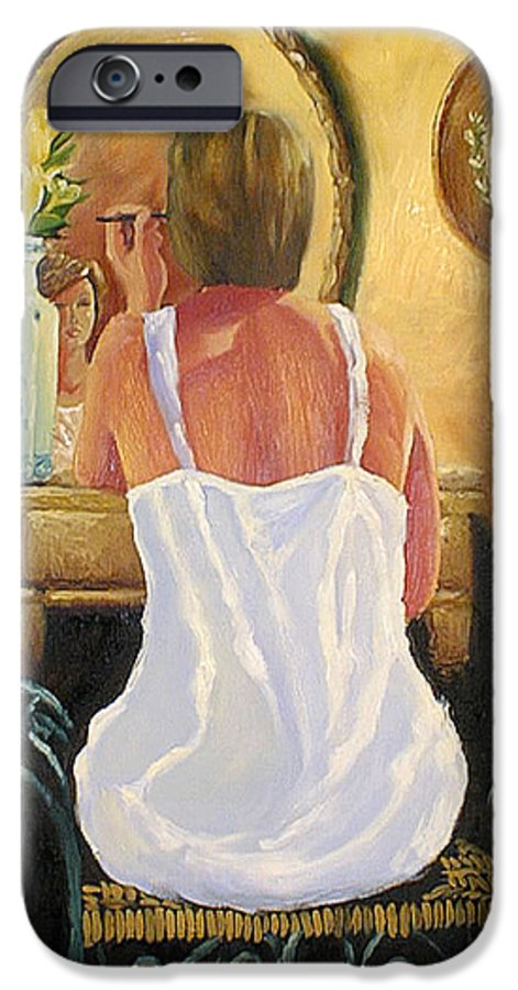 People IPhone 6 Case featuring the painting La Coqueta by Arturo Vilmenay