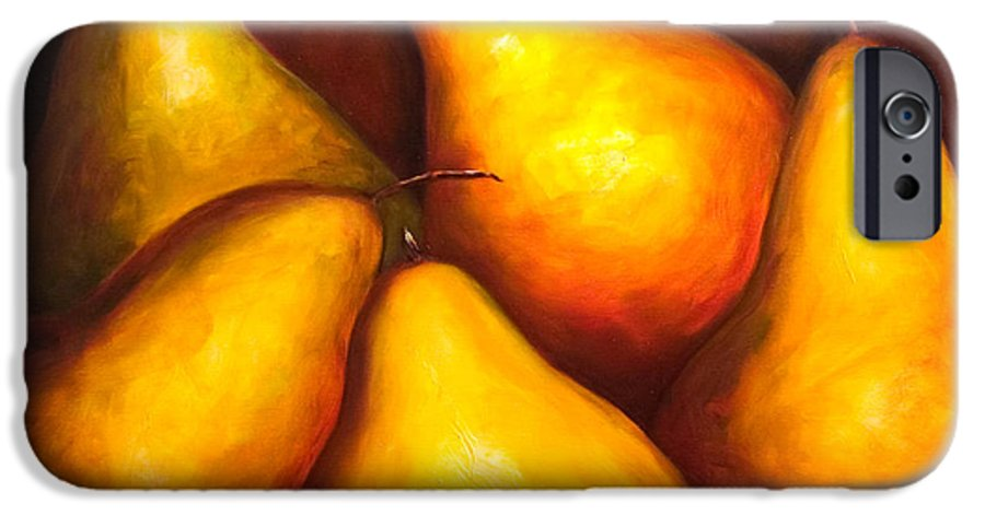 Still Life Yellow IPhone 6 Case featuring the painting La Familia by Shannon Grissom