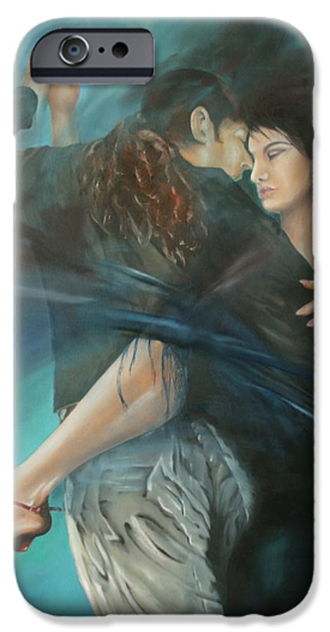 Tango IPhone 6 Case featuring the painting La Mujer Argentina by Harri Spietz
